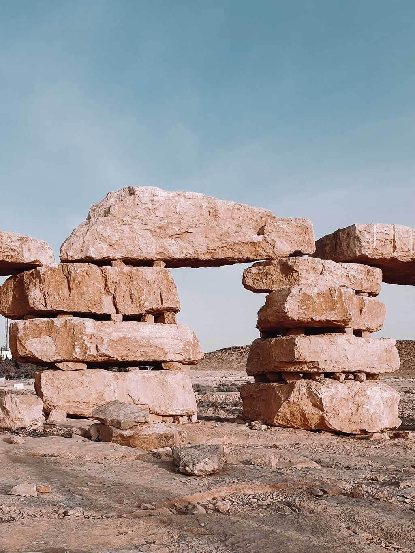 גן הפסלים טיילת מצפה רמון